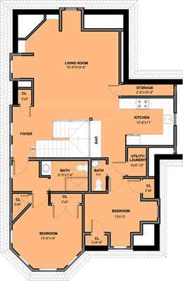 Third Floor Floorplan – Unit 4